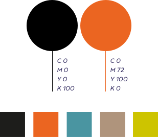 Casa più palette di colori