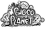 Logo Choco Planet in bianco e nero