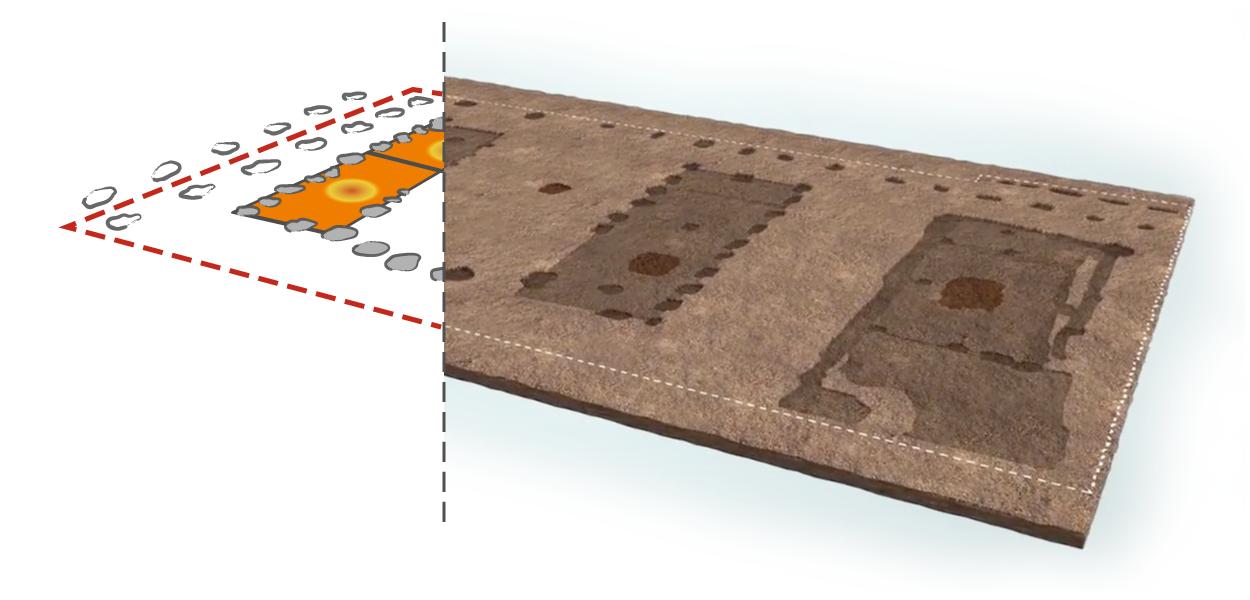 Ricostruzione della planimetria da rilievi e relazioni tecniche.