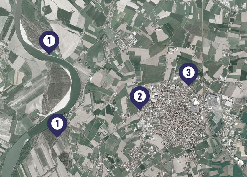 Le location delle riprese, indicate sulla mappa